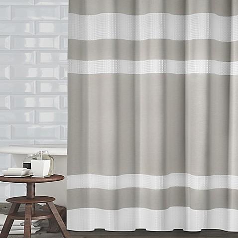 beige striped shower curtain. Ravello Textured Stripe Shower Curtain  Bed Bath Beyond