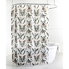 St patricks day shower curtain bed bath beyond splash home woodland peva shower curtain in aqua urtaz Choice Image