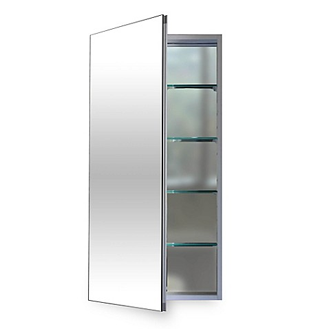Flawless 16 Inch Medicine Cabinet In Silver