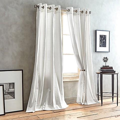 Dkny City Line Grommet Top Window Curtain Panel Bed Bath
