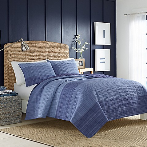 Nautica reg  Riverview Quilt in Dark Blue. Nautica  Riverview Quilt in Dark Blue   Bed Bath   Beyond