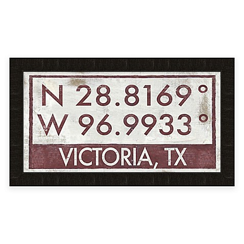 victoria texas coordinates framed wall art bed bath beyond. Black Bedroom Furniture Sets. Home Design Ideas