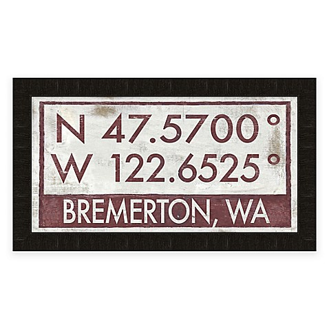 Buy Bremerton Coordinates Framed Gicl E Wall Art From Bed Bath Beyond