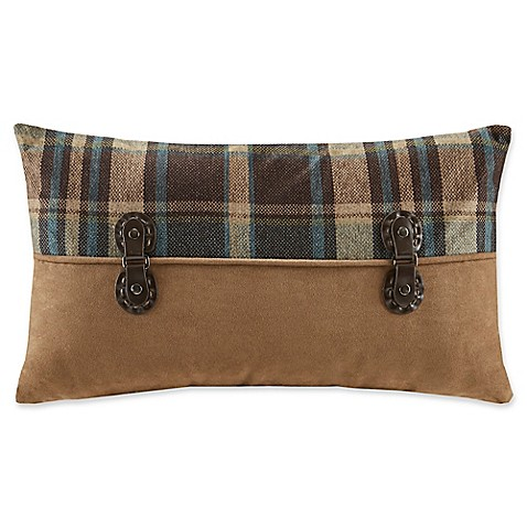 Woolrich Dog Decorative Pillow : Buy Woolrich Hadley Plaid Pieced Rectangle Throw Pillow in Brown from Bed Bath & Beyond