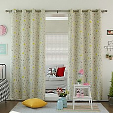 image of Decorinnovation Bunny Room Darkening Grommet Top Window Curtain Panel Pair