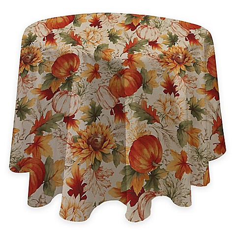 Buy Autumn Sunflower 70 Inch Round Tablecloth From Bed