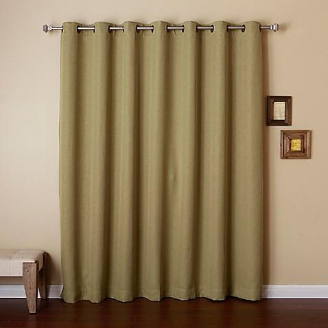 Decorinnovation Wide Width Grommet Top Room Darkening Window Curtain Panel Bed Bath Beyond