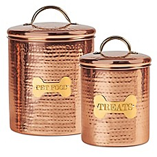 image of King Charles Copper Dog Canister