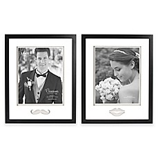 image of Occasions Gallery 8-Inch x 10-Inch 2-Piece Lips and Mustache Frame Set