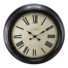 image of La Crosse Technology Antiqued Wall Clock in Bronze