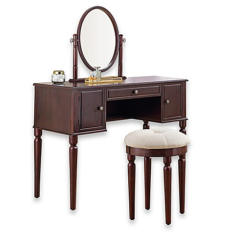 Bathroom Vanity Table bella vanity and stool set - bed bath & beyond