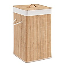 image of Bamboo Hamper in Natural (Set of 2)