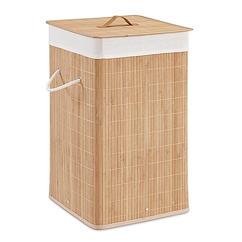 Buy Bamboo Hamper In Natural Set Of 2 From Bed Bath Beyond