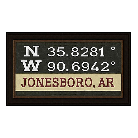 Buy Framed Gicl E Jonesboro Ar Coordinates Print Wall Art