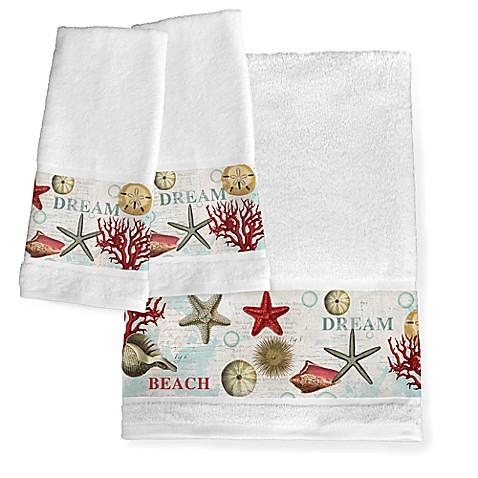 Laural Home 174 Dream Beach Shells Hand Towels Set Of 2