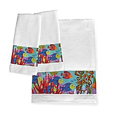 image of Laural Home® Fish in the Hood Hand Towels (Set of 2)