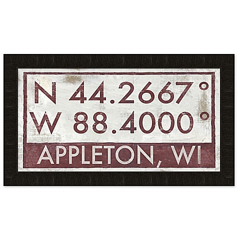 Appleton Wisconsin Coordinates Framed Wall Art Bed Bath Beyond