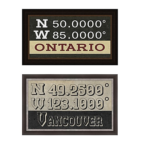 Canada Coordinates Framed Giclee Print Wall Art