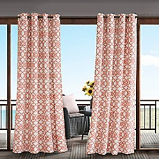 image of Madison Park Daven 3M Scotchgard™ Grommet Top Outdoor Curtain Panel