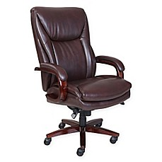 image of La-Z-Boy® Edmonton Big & Tall Leather Executive Office Chair in Coffee