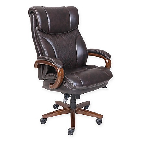 La Z Boy Reg Trafford Tall Leather Executive Office Chair