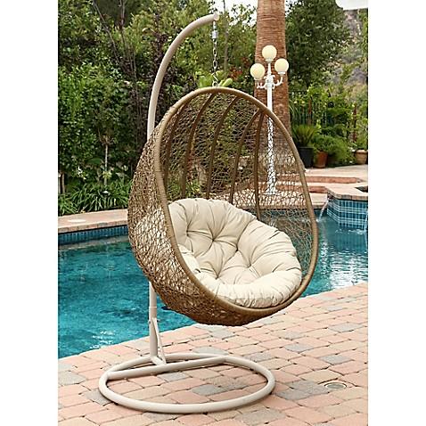 Abbyson Living 174 Hampton Outdoor Wicker Swing Chair In