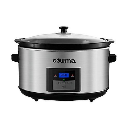 programmable slow cooker gourmia 174 slowsmart express 8 5 qt digital programmable 30440