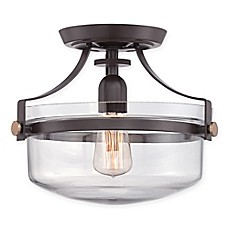 image of quoizel uptown penn small semi flush mount ceiling fixture bed bath and beyond lighting