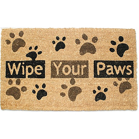 J Amp M Home Fashions 18 Inch X 30 Inch Quot Wipe Your Paws