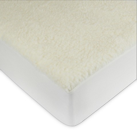 signature collection wool fleece mattress pad - bed bath & beyond