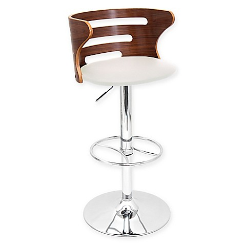 Lumisource Cosi Adjustable Height Faux Leather Bar Stool