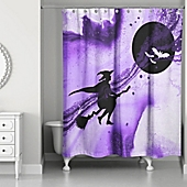 Witch Witch Shower Curtain in Purple/Black - Bed Bath & Beyond