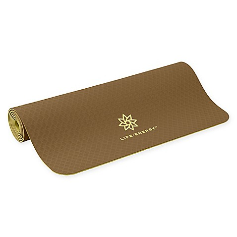 Life Energy Ekosmart Lotus Flower Yoga Mat in Brown
