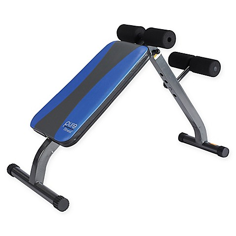 Pure Fitness Ab Crunch Sit Up Bench In Blue Bed Bath