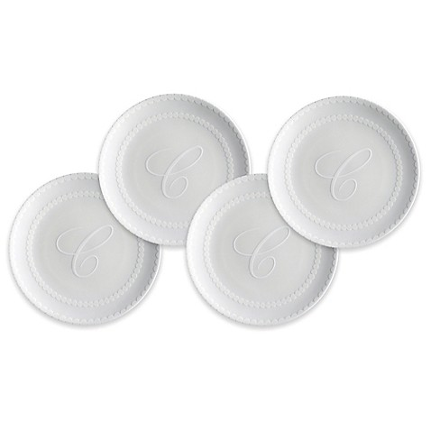 Caskata pearls canap plates set of 4 bed bath beyond for Canape plate sets