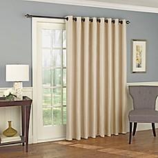 Solar Shield Wilder 84-Inch Grommet Room Darkening Patio Door Curtain Panel & Door Curtains | Bed Bath u0026 Beyond
