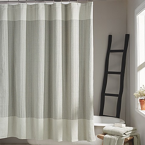 DKNY® Network Shower Curtain in Platinum - Bed Bath & Beyond