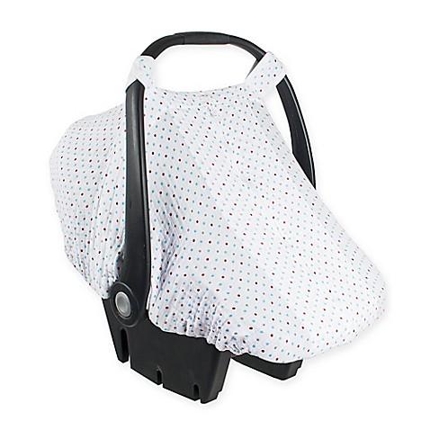 b b au lait muslin car seat cover in polka dot buybuy baby. Black Bedroom Furniture Sets. Home Design Ideas