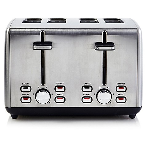 Professional Series Stainless Steel 4 Slice Toaster Bed Bath