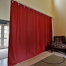 image of RoomDividersNow Ceiling Track Room Divider Kit B with 9-Foot Tall Curtain Panel (B)