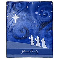 image of Starry 3 Kings Custom Throw Blanket
