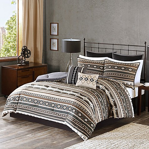 Tao Comforter Set In Brown Bed Bath Amp Beyond