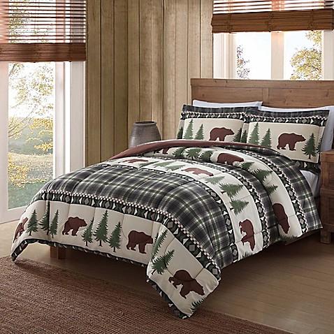 Remington 174 Boucher Woods Comforter Set In Tan Bed Bath