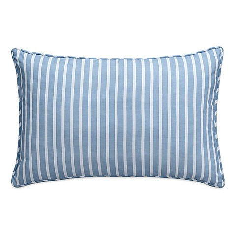 Nautical Map Striped Oblong Throw Pillow in Light Blue - Bed Bath & Beyond