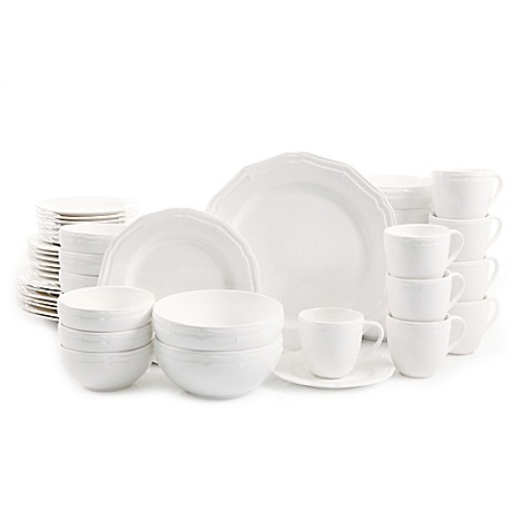image of Gibson Miranda 48-Piece Dinnerware Set  sc 1 st  Bed Bath \u0026 Beyond & Dinnerware Sets: Stoneware Square Dinnerware and more - Bed Bath ...
