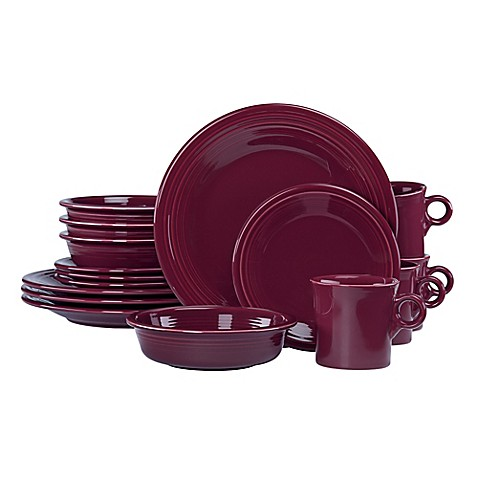 Fiestau0026reg; 16-Piece Dinnerware Set in Claret  sc 1 st  Bed Bath u0026 Beyond & Fiesta® 16-Piece Dinnerware Set in Claret - Bed Bath u0026 Beyond