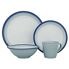 image of Sango Avalon 16-Piece Dinnerware Set in Aqua
