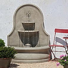 image of Campania Estancia Outdoor Wall Fountain in Stone