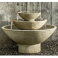 image of Campania Carrera Oval Outdoor Fountain in Alpine Stone
