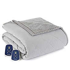 image of Micro Flannel® Reverse to Sherpa Electric Heated Blanket